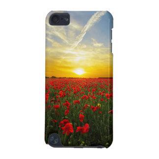 Wonderful Poppy Field Sunset Horizon iPod Touch (5th Generation) Case