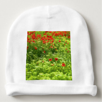 Wonderful poppy flowers V - Wundervolle Mohnblumen Baby Beanie