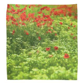 Wonderful poppy flowers V - Wundervolle Mohnblumen Bandanna