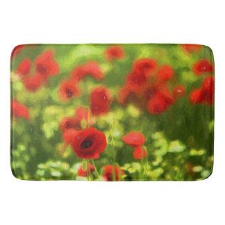 Wonderful poppy flowers VI - Wundervolle Mohnblume Bath Mat