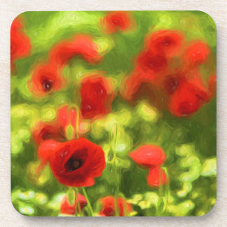 Wonderful poppy flowers VI - Wundervolle Mohnblume Beverage Coasters