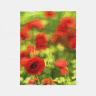 Wonderful poppy flowers VI - Wundervolle Mohnblume Fleece Blanket