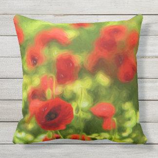 Wonderful poppy flowers VI - Wundervolle Mohnblume Outdoor Pillow
