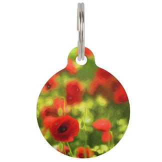 Wonderful poppy flowers VI - Wundervolle Mohnblume Pet Name Tag
