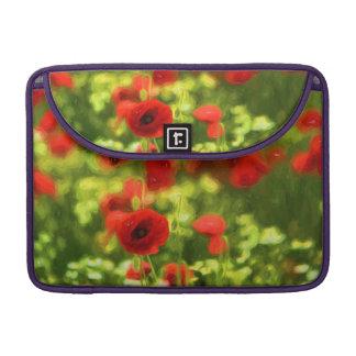 Wonderful poppy flowers VI - Wundervolle Mohnblume Sleeves For MacBook Pro