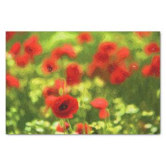 Wonderful poppy flowers VI - Wundervolle Mohnblume Tissue Paper
