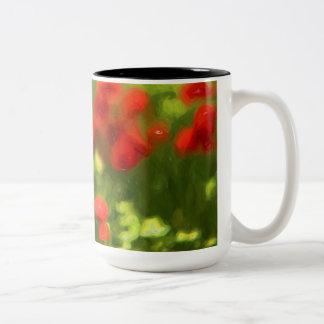 Wonderful poppy flowers VI - Wundervolle Mohnblume Two-Tone Coffee Mug