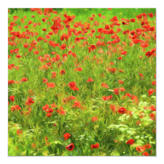 Wonderful poppy flowers VII - Wundervolle Mohnblum Card