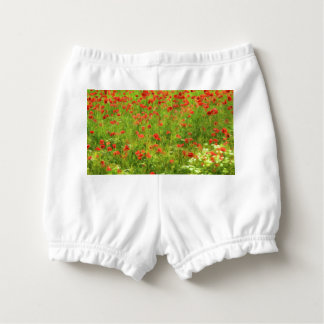 Wonderful poppy flowers VII - Wundervolle Mohnblum Diaper Cover