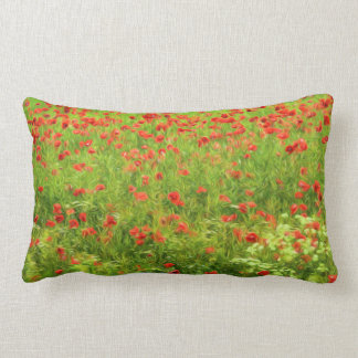 Wonderful poppy flowers VII - Wundervolle Mohnblum Lumbar Pillow