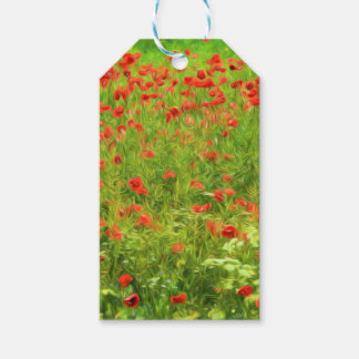 Wonderful poppy flowers VII - Wundervolle Mohnblum Pack Of Gift Tags