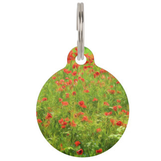 Wonderful poppy flowers VII - Wundervolle Mohnblum Pet Name Tag