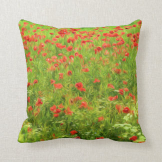 Wonderful poppy flowers VII - Wundervolle Mohnblum Throw Pillow