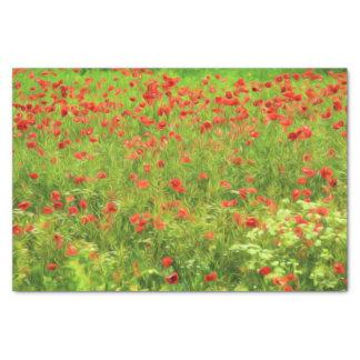 Wonderful poppy flowers VII - Wundervolle Mohnblum Tissue Paper