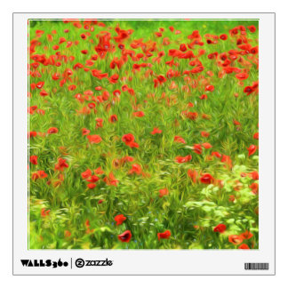 Wonderful poppy flowers VII - Wundervolle Mohnblum Wall Decal