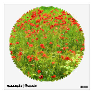 Wonderful poppy flowers VII - Wundervolle Mohnblum Wall Sticker
