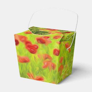 Wonderful poppy flowers VIII - Mohnbluhmen Party Favor Box