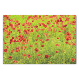 Wonderful poppy flowers VIII - Mohnbluhmen Tissue Paper