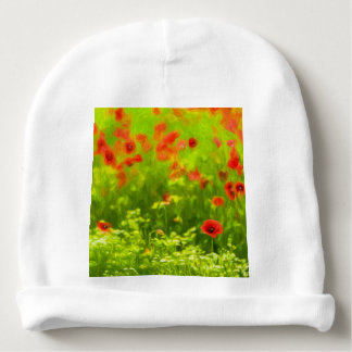 Wonderful poppy flowers VIII - Wundervolle Mohnblu Baby Beanie