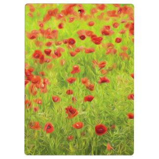 Wonderful poppy flowers VIII - Wundervolle Mohnblu Clipboards