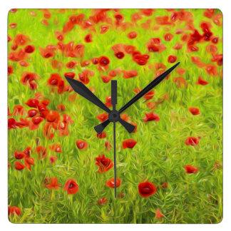Wonderful poppy flowers VIII - Wundervolle Mohnblu Clocks