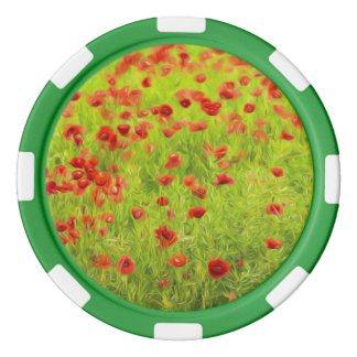 Wonderful poppy flowers VIII - Wundervolle Mohnblu Poker Chip Set