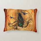 Wonderful raven accent pillow