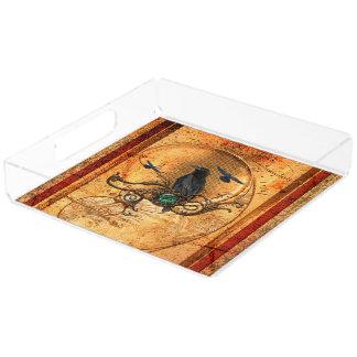 Wonderful raven acrylic tray