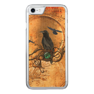 Wonderful raven carved iPhone 8/7 case