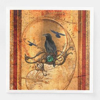 Wonderful raven disposable napkins