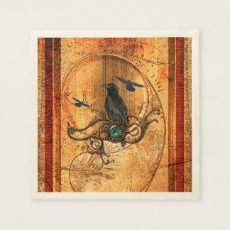 Wonderful raven paper napkin
