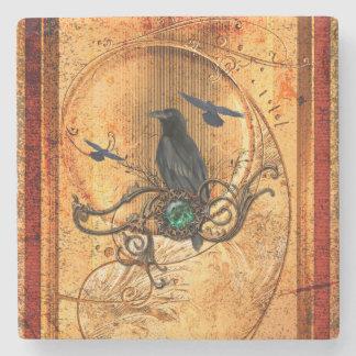Wonderful raven stone coaster