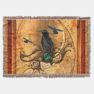 Wonderful raven throw blanket