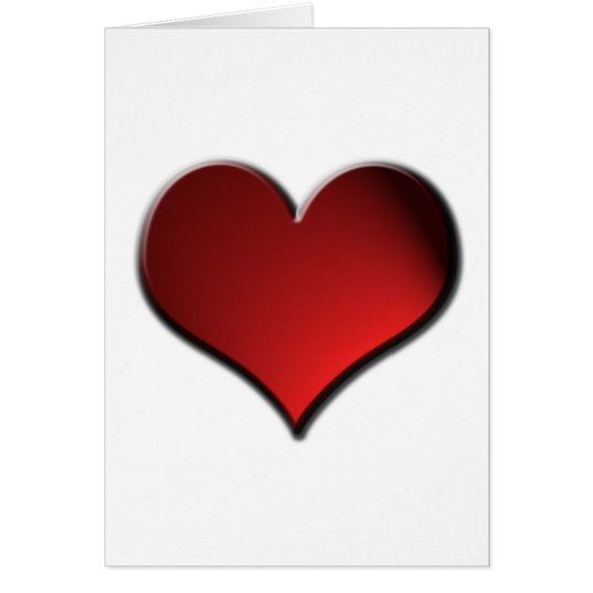 Wonderful Red Heart Valentines Card