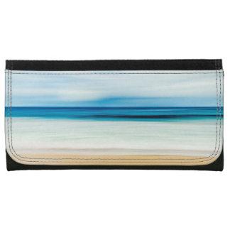 Wonderful Relaxing Sandy Beach Blue Sky Horizon Leather Wallet