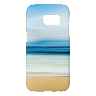 Wonderful Relaxing Sandy Beach Blue Sky Horizon Samsung Galaxy S7 Case