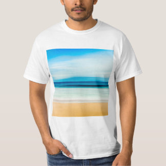 Wonderful Relaxing Sandy Beach Blue Sky Horizon T-Shirt