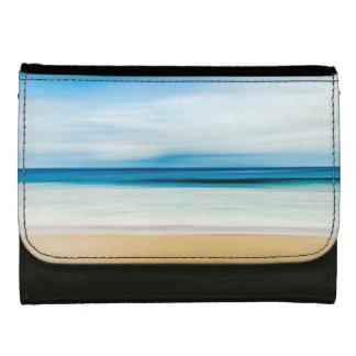 Wonderful Relaxing Sandy Beach Blue Sky Horizon Wallet