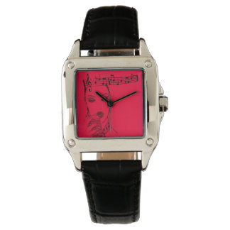 wonderful rockabilly singer wrist watch