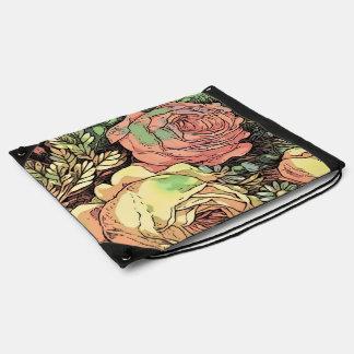 Wonderful Roses Drawstring Bag