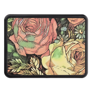 Wonderful Roses Trailer Hitch Cover