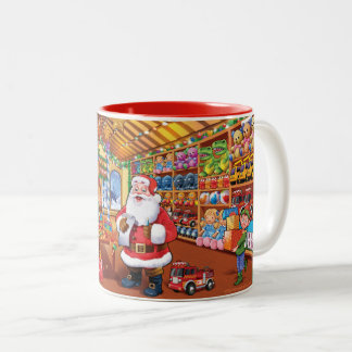 Wonderful Santa's workshop christmas mug