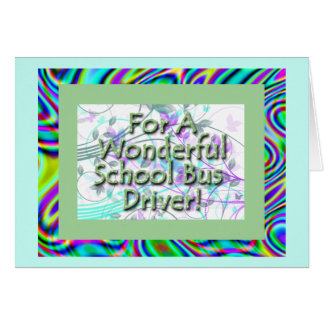 Wonderful School Bus Driver Greeting Card