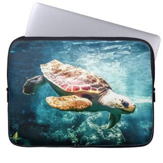 Wonderful  Sea Turtle Ocean Life Turquoise Sea Computer Sleeves