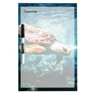 Wonderful  Sea Turtle Ocean Life Turquoise Sea Dry Erase Boards
