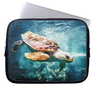 Wonderful  Sea Turtle Ocean Life Turquoise Sea Laptop Computer Sleeves