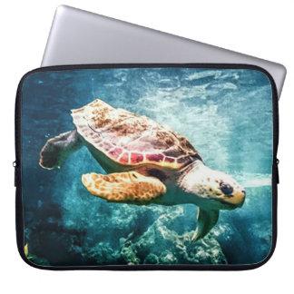 Wonderful  Sea Turtle Ocean Life Turquoise Sea Laptop Sleeve
