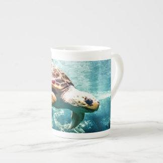 Wonderful  Sea Turtle Ocean Life Turquoise Sea Tea Cup