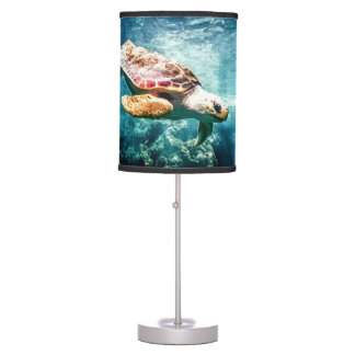 Wonderful Sea Turtle Underwater Life Table Lamp