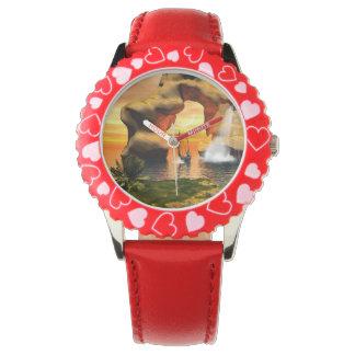 Wonderful seascape wrist watch